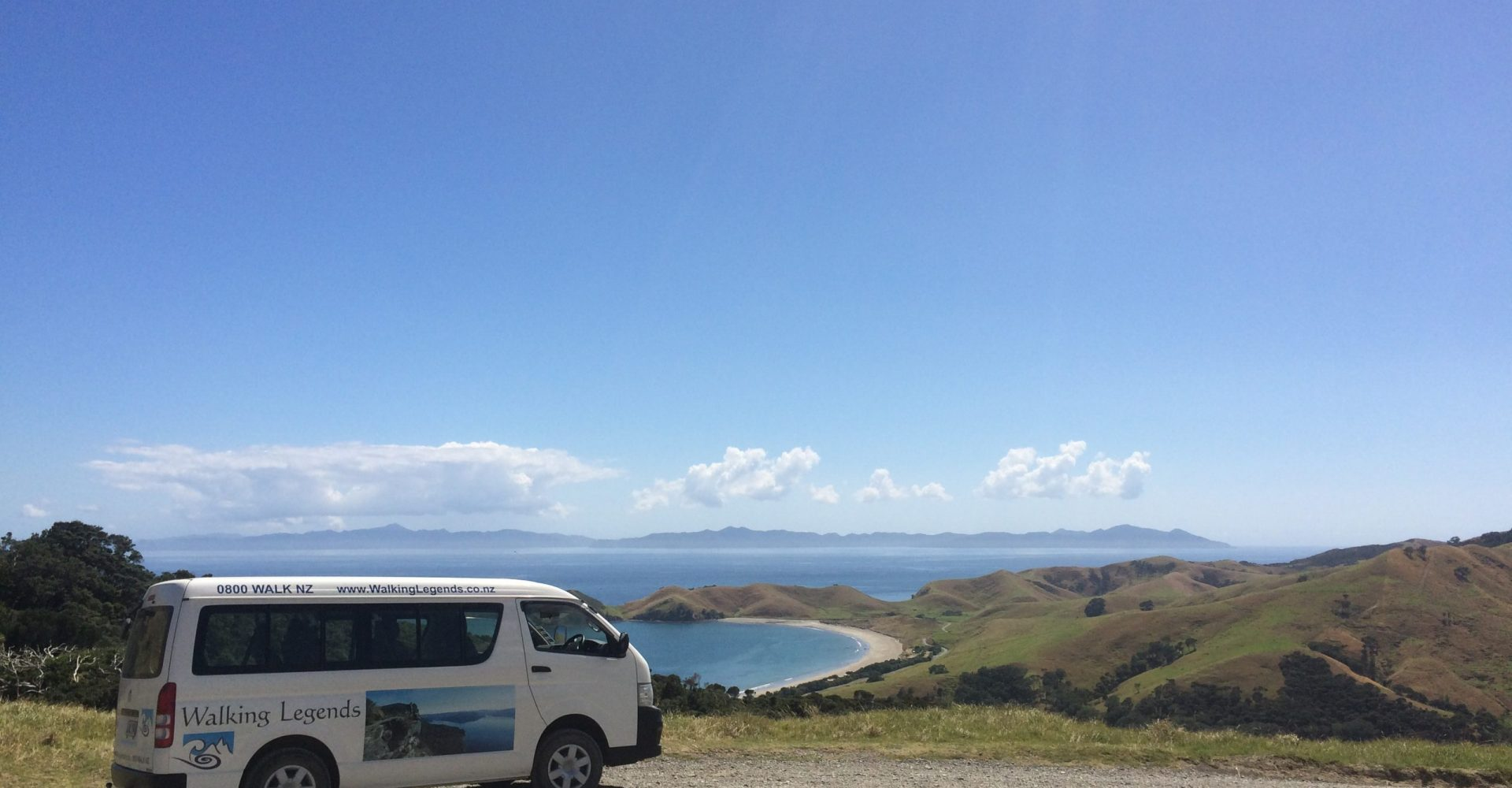Walking Legends van on the Coromandel Peninsula